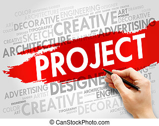 proyecto, palabra, nube
