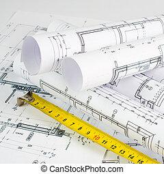 proyecto, parte, arquitectónico