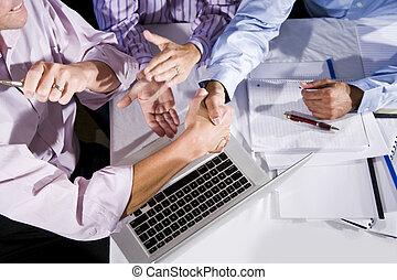 proyecto, trabajadores, acabado, oficina