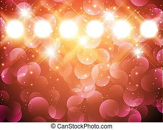 proyectores, estrellas