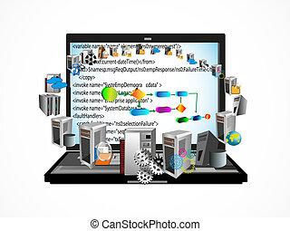 prozess, kodierung, geschaeftswelt, software
