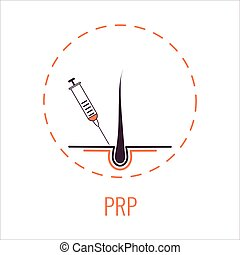PRP hair loss treatment poster in line style