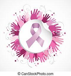 prs rak povědomí čeho lem, rukopis, společenský, odznak