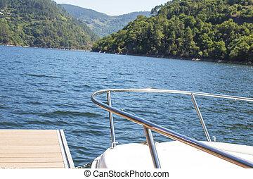 prua, acqua, yacht
