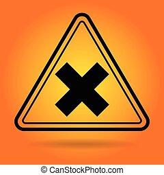 prudence, signe, sécurité, icône