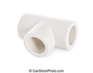 Aislado tubo pvc t blanco prueba tiro aislado tubo - Tubos pvc blanco ...