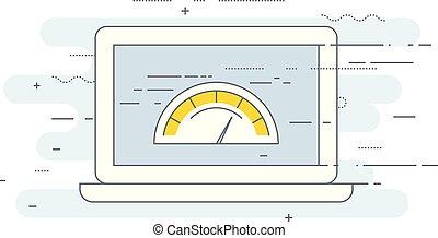 prueba, -, carga, rendimiento, sitio, página web, icono, velocidad, optimization