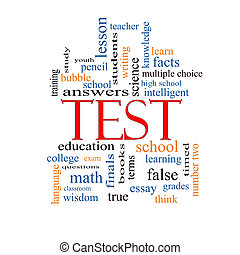 prueba, concepto, palabra, nube