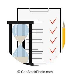 prueba, examen, cuestionario, icono