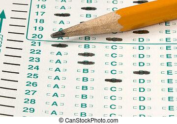 prueba, examen