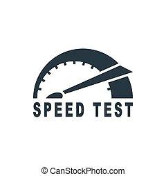 prueba, velocidad, icono