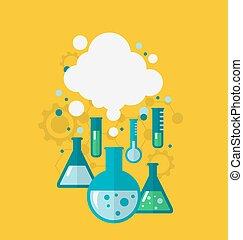 pruebas, ser, actuación, químico, experimento, vario, plantilla, cond