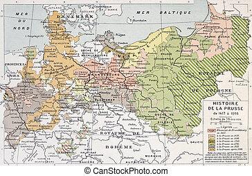 Prussia historical development map. By Paul Vidal de...