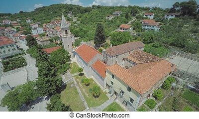Prvic Luka aerial - Aerial view of the Prvic Luka on island...