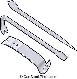 Pry bar - Vector cartoon clipart picture of a pry bar