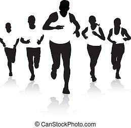 przód, biegacze