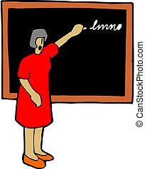 przód, nauczyciel, klasa