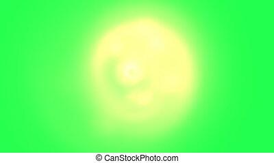 przędzenie, zielony, ekran, dym