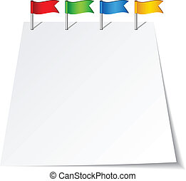 przeć, wektor, bandery, szpilka