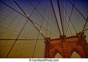 przedimek określony przed rzeczownikami, brooklyn most, w, miasto nowego yorku