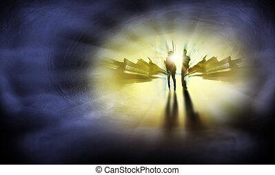 przedimek określony przed rzeczownikami, droga, do, niebo