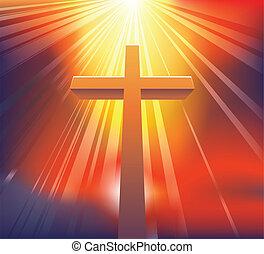 przedimek określony przed rzeczownikami, krzyż