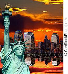 przedimek określony przed rzeczownikami, miasto nowego yorku skyline