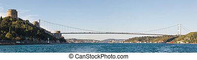 przedimek określony przed rzeczownikami, most, na, bosphorus, panorama