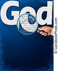 przedimek określony przed rzeczownikami, nazwa, bóg, pod, obserwacja, z, szkło powiększające