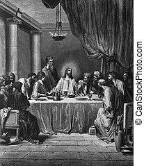 przedimek określony przed rzeczownikami, ostatnia kolacja