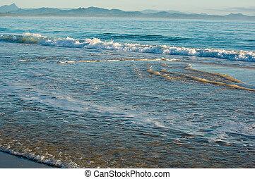 przedimek określony przed rzeczownikami, plaża