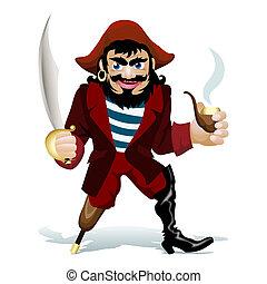 przedimek określony przed rzeczownikami, smilling, pirat