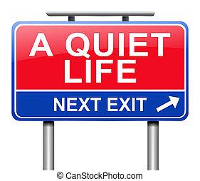 przedimek określony przed rzeczownikami, spokojny, life.