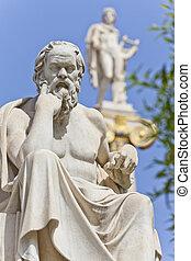 przedimek określony przed rzeczownikami, starożytny, grek, filozof, socrates