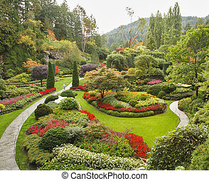 przedimek określony przed rzeczownikami, sunken-garden, na,...