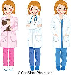 przedstawianie, samiczy doktor