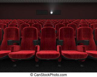 przedstawienie, nowoczesny, 3d, kino