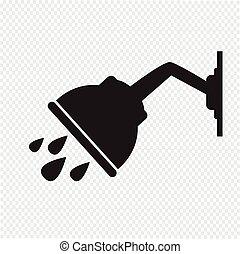 przelotny deszcz, ikona