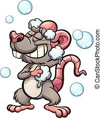 przelotny deszcz, szczur