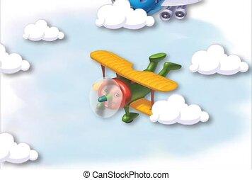 przelotny, samolot, zabawka