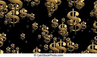 przelotny, usa, dolar znaczy