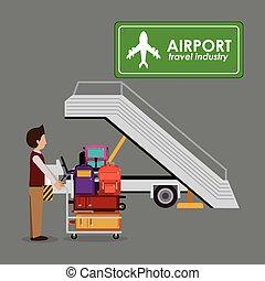 przemysł, lotnisko, projektować