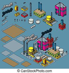przemysł, zbudowanie, zestaw