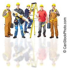 przemysłowi pracownicy, group.