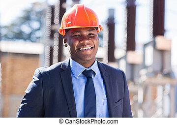 przemysłowy, afrykanin, businesswman