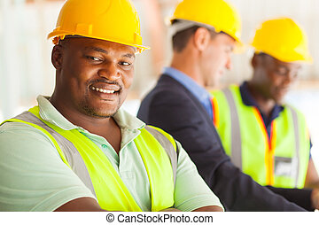 przemysłowy, afrykanin, inżynier