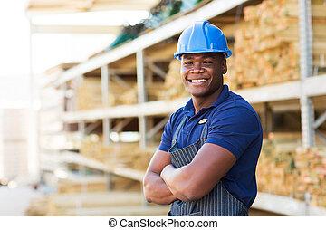 przemysłowy pracownik, afrykanin