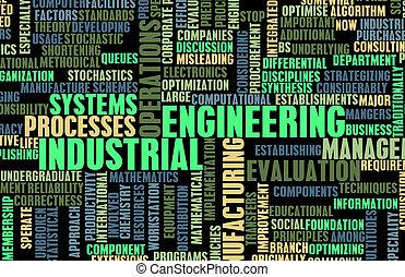 przemysłowy, technika