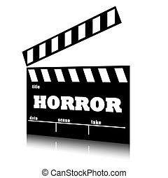 przerażenie, genre., film, klepać, kino