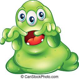 przerażenie, zielony potwór